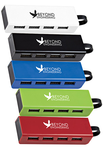 4-Port Traveler USB Hub with Phone Stands | X20146