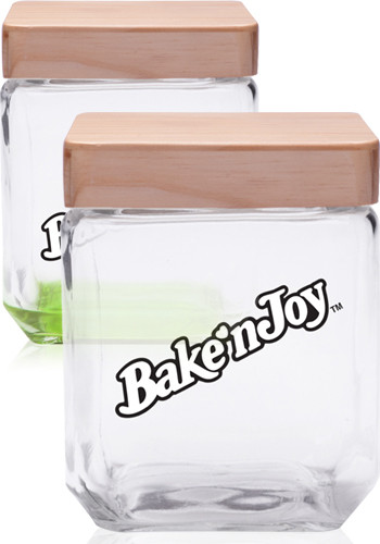 41 oz. Square Glass Candy Jars with Wooden Lid | CAN09
