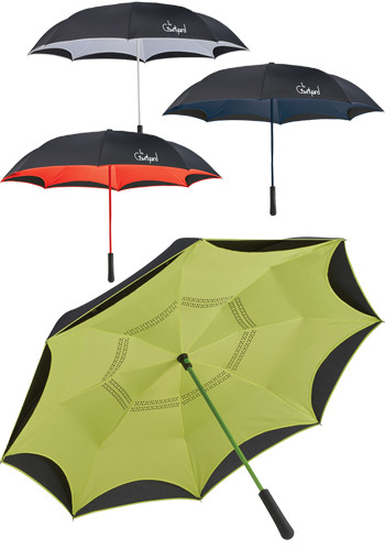 46 Inch Colorized Manual Inversion Umbrellas | LE205066