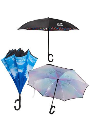 48 Inch Auto Open Designer Inversion Umbrellas | LE205079