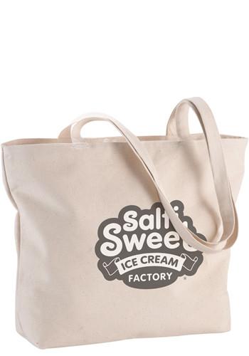 Signature Cotton Zippered Tote Bags | LE790046