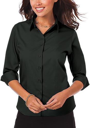 Blue Generation Ladies 3/4 Sleeve Poplin Dress Shirts | BGEN6260