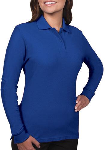 Blue Generation Ladies Long Sleeve Polo Shirts | BGEN6502