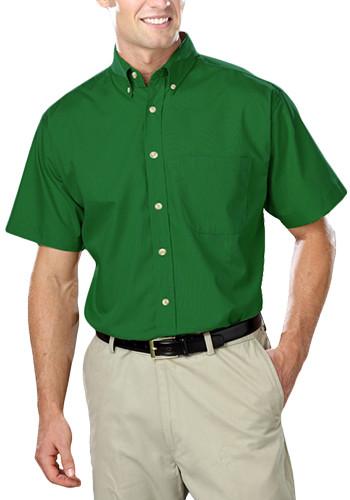Blue Generation Men's Short Sleeve Stain Release Poplin Shirts   BGEN7216S