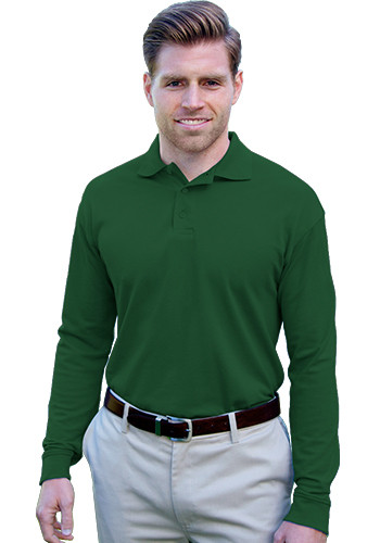 Blue Generation Adult Long Sleeve Polo Shirts | BGEN7505