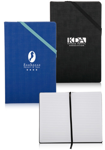 Personalized Hardcover Journals with Corner Band