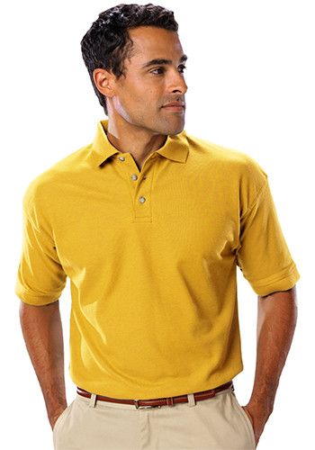 Blue Generation Men's Teflon Treated Polo Shirts w/o Pocket   BGEN7203