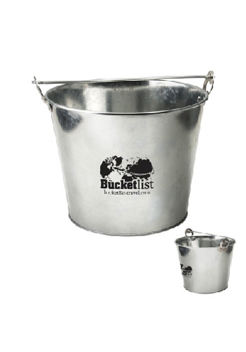 5 Qt Galvanized Ice Buckets With Bottle Opener | IL712