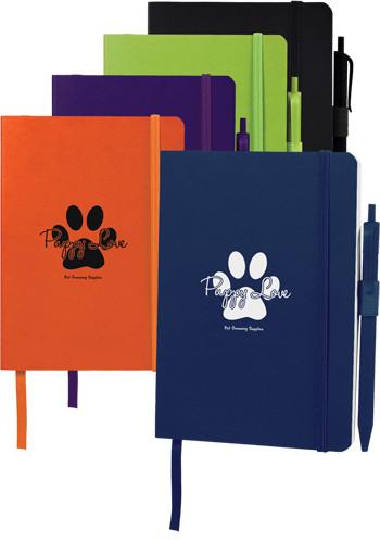 5 x 7 Hue Soft Bound Notebooks With Pen | SM3582