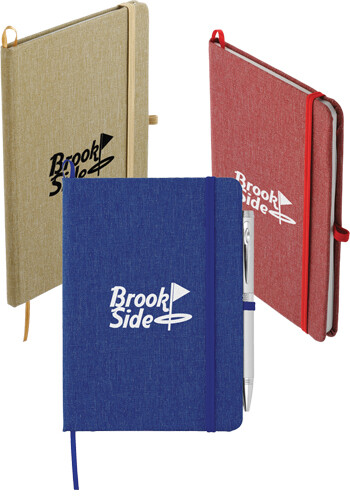 Bulk 5 x 7 Inch Recycled Cotton Bound Notebooks