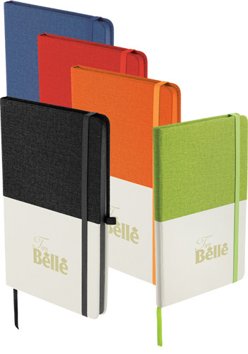 5 x 8 Inch Two Tone Bound Notebooks |SM3562