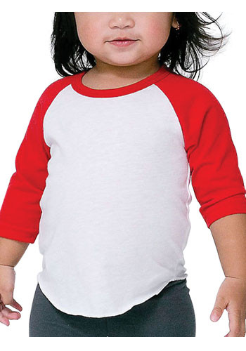 American Apparel Infant Quarter Sleeve Raglan Tees | AABB053W