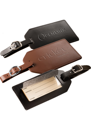 Leather Luggage Tags with Buckle | PLLG9095