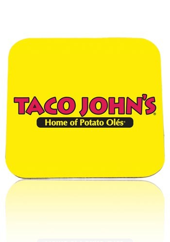 Personalized 1/8 inch Black Rubber Backing Square Coasters