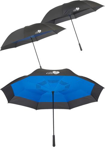 Customized 58 In. Inversion Auto Close Golf Umbrellas