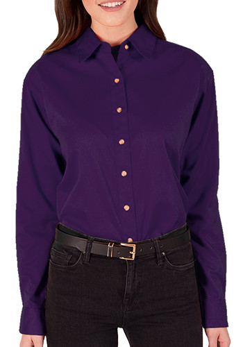 Blue Generation Ladies Long Sleeve Twill Dress Shirts | BGEN6217