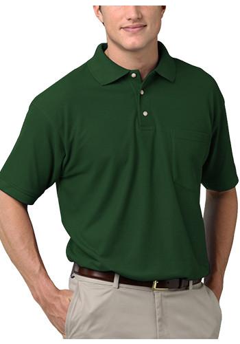 Blue Generation Adult Short Sleeve Superblend Pocket Polo Shirts | BGEN7206