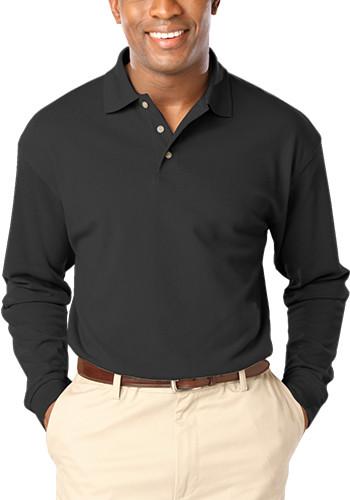 Blue Generation Men's Pocketless Long Sleeve Polo Shirts | BGEN7207