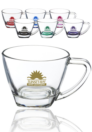 Custom 6 oz Cafe Glasses with Handle