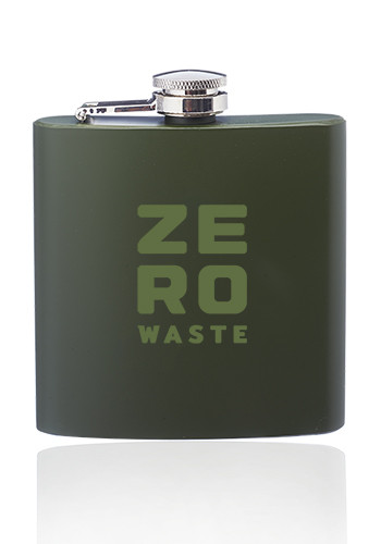 Promotional 6 oz. Camo Stainless Steel Hip Flasks