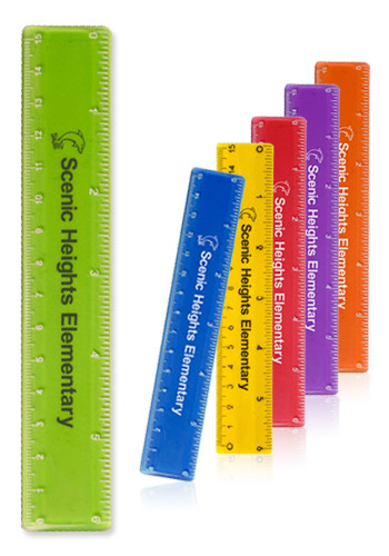 Custom 6 in. Color Plastic Rulers