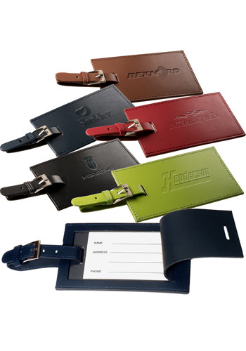 Promotional Rectangle Leather Luggage Tags