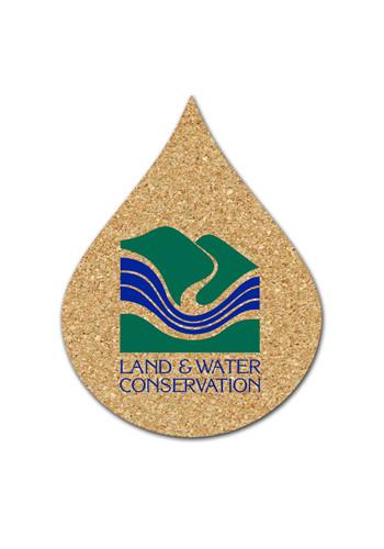Wholesale 3.5 inch Cork Water Drop Coasters