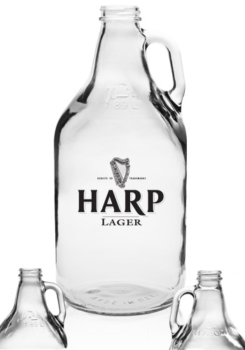 Clear Glass Beer Growlers