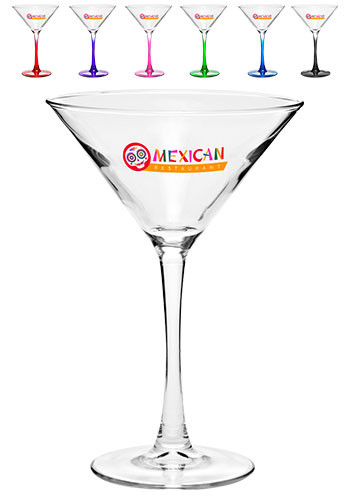 Custom 7.5 oz ARC Nuance Martini Glasses