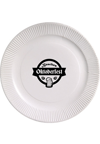 Promotional 7 Inch White Paper Plates