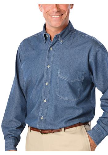 Blue Generation Men's Long Sleeve Premium Denim Shirts | BGEN8206