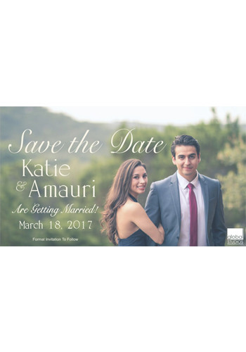 Personalized 7 x 4 Save The Date Magnets