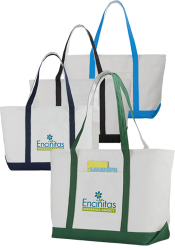 Cotton Zippered Boat Tote Bags