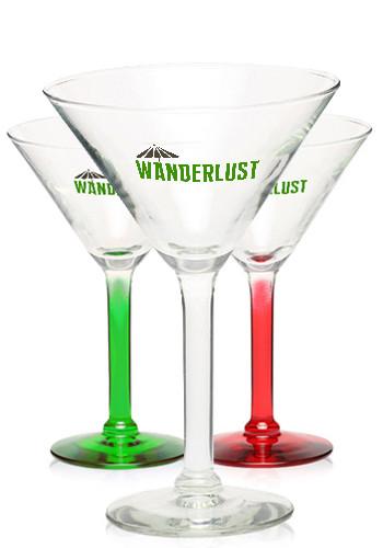 Personalized 8.5 oz. Libbey Salud Grande Wedding Martini Glasses