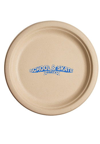 8.75 Inch Kraft Round Compostable Paper Plates | TSCPK875