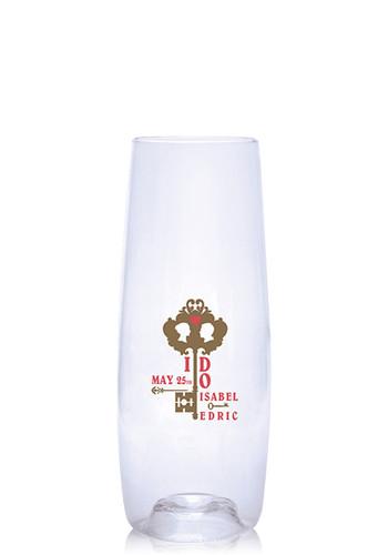Customized 8 oz. Govino Plastic Champagne Flutes