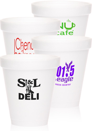 Wholesale 8 oz. Tall Styrofoam Coffee Cups