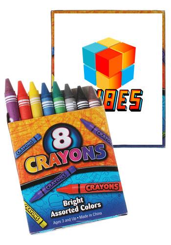 Custom 8-Pack Non-Toxic Crayons