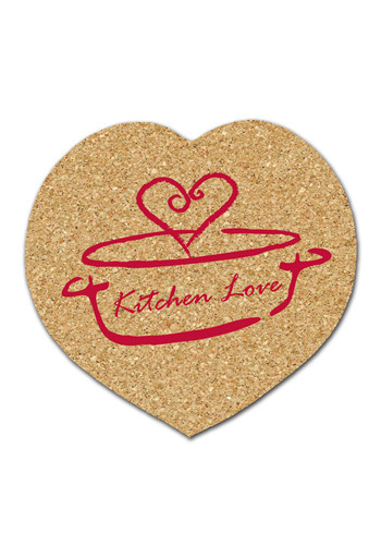 Personalized 4.25 inch Cork Heart Coasters