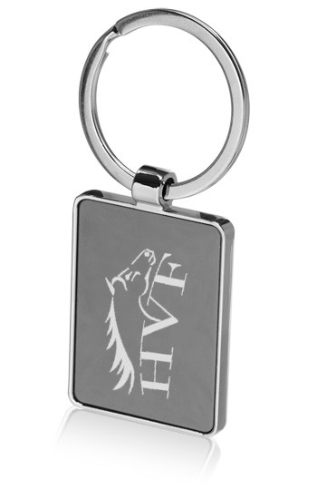 Rectangular Metal Keychains