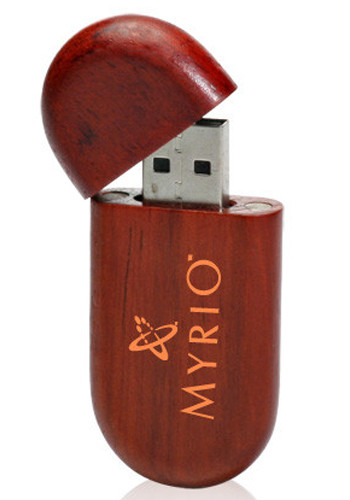 Wholesale 8GB Oval Wood Flash Drives