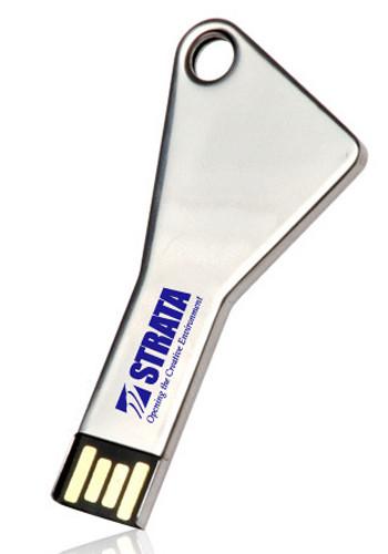 8GB Silver Key Flash Drives   USB0298GB