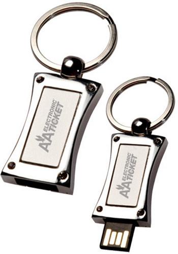 Wholesale 8GB Slide Metal USB Keychains