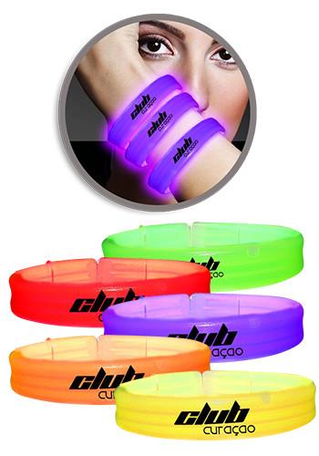 Wholesale 9 in. Deluxe Triple Wide Light Up Glow Bracelets