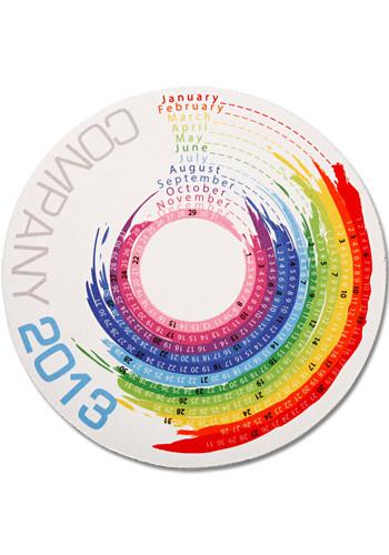 Wholesale Color Splash Calendar Mouse Pads
