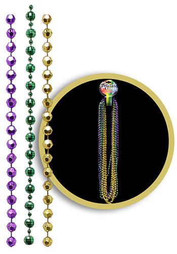 Customized Disco Ball Mardi Gras Bead Necklaces