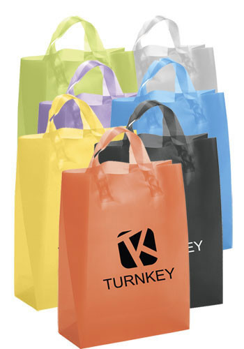 Apollo Frosted Plastic Shopping Bags | BM37S810H