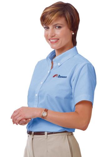 Blue Generation Ladies Short Sleeve Oxford Shirts | BGEN6214S