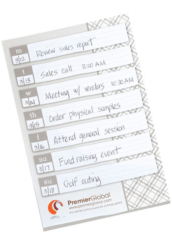 Promotional BIC Large Adhesive Notepads 25 Sheets
