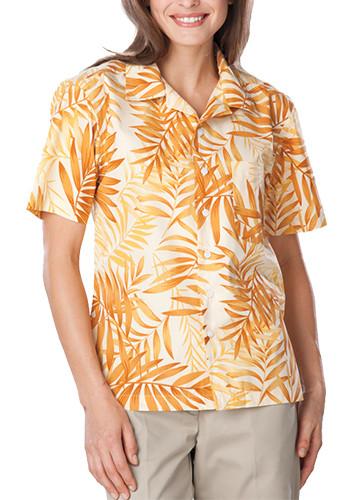 #BGEN3107 Custom Promotional Adult Tonal Print Camp Shirts